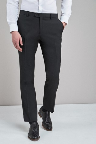 02edae56 Buy Black Slim Fit Stretch Plain Front Trousers from the Next UK ...