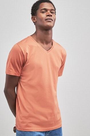 1828dedb7edb Buy Orange V-Neck T-Shirt from the Next UK online shop