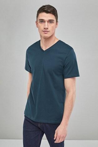 6cf23a00e Buy Dark Green V-Neck T-Shirt from the Next UK online shop