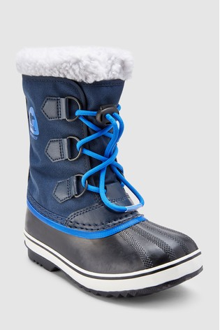 ef518a6820ffb Buy Sorel® Navy Yoot Pac Nylon Lace-Up Snow Boot from the Next UK ...