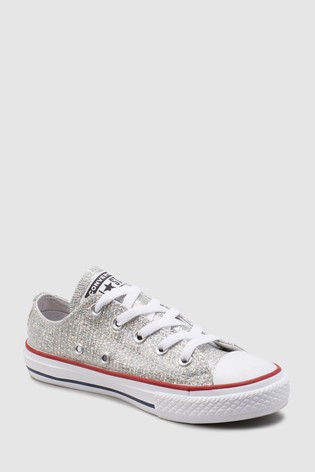 Buy Converse Youth Grey Metallic Chuck Ox from Next Germany
