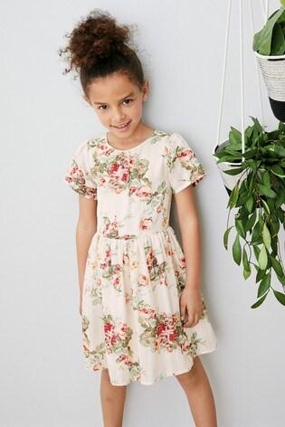 from Next Slovakia Buy Ecru Floral Prom Dress (3 – 16 rok.) d6a0fba3236