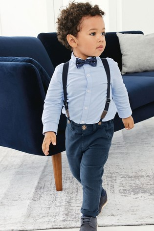 d2afbe48c74a Buy Blue Shirt, Chinos And Bow Tie Three Piece Set (3mths-7yrs) from ...