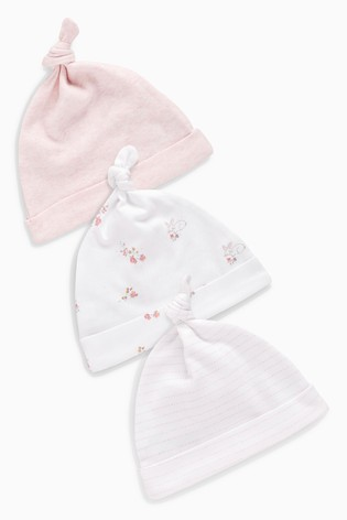 b93eb667c98 Buy Pink White Tie Top Hats Three Pack (0-18mths) from Next Canada