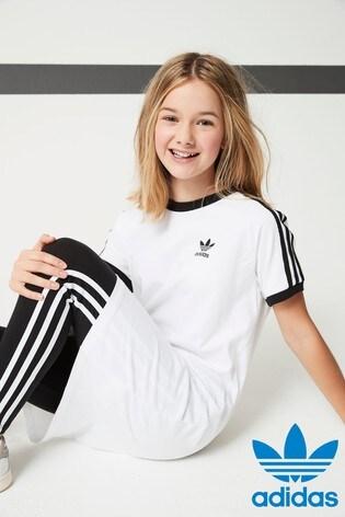 34ea6c5ee0f Buy adidas Originals Little Kids Black 3 Stripe Legging from Next ...