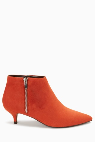 c3f9695e116 Buy Orange Kitten Heel Ankle Boots from the Next UK online shop
