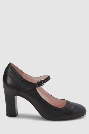 e135dd5bc11d Buy Black Leather Mary Jane Shoes from the Next UK online shop