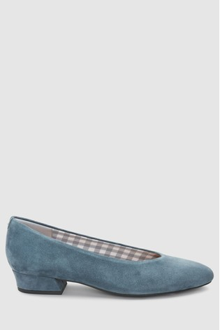 b1cb71102be Buy Blue Suede Forever Comfort® Low Block Heels from the Next UK ...