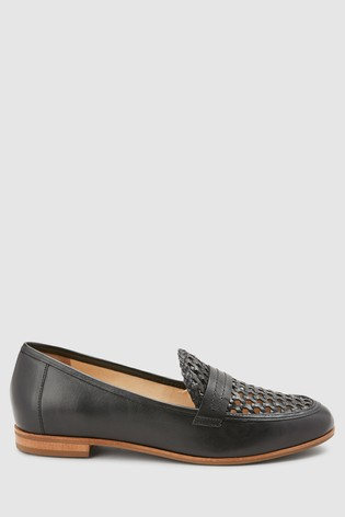 da263bbc152 Buy Black Signature Forever® Comfort Leather Woven Loafers from the ...