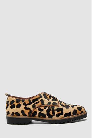 0498b879aea0a Buy Leopard Print Leather Lace-Ups from Next Poland