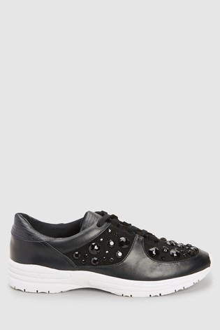 Buy Black Embellished Trainers from the Next UK online shop f27c38009