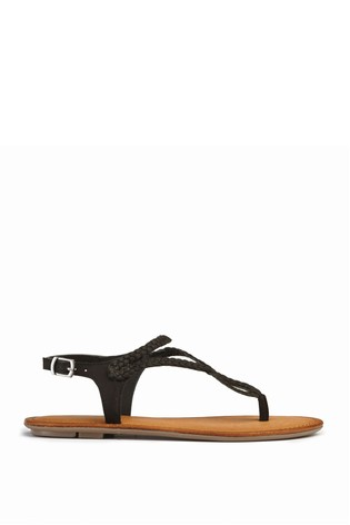 8159728e2daa70 Buy Black Plaited Toe Thong Sandals from Next Ireland