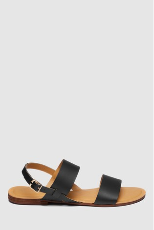 Buy Black Forever Comfort Two Band Slingback Sandals from