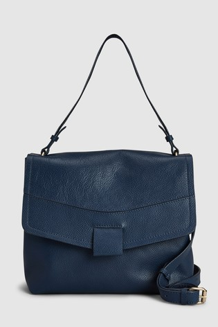 Buy Navy Leather Shoulder Bag from the Next UK online shop 9be0e8cca551