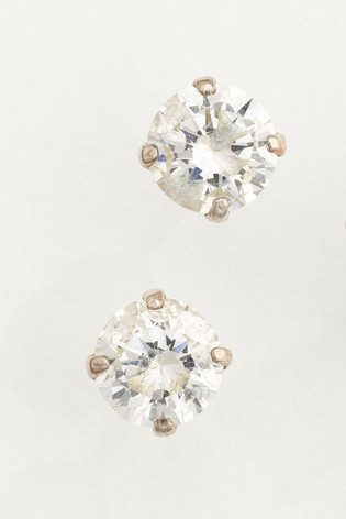 ac4048877 Buy Sterling Silver Cubic Zirconia Stud Earrings from the Next UK ...