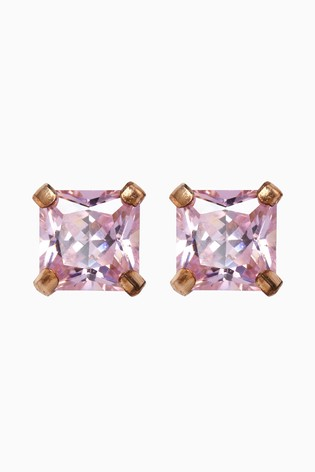 43ce49be3 Buy Sterling Silver Pink Cubic Zirconia Stud Earrings from the Next ...