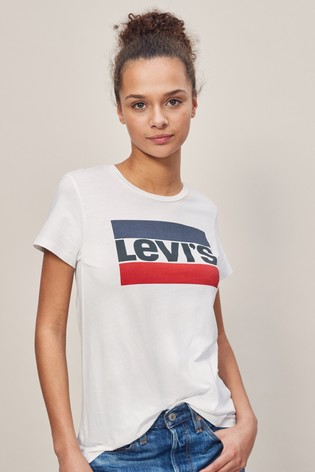 649cf55f3b999 Buy Levi s® The Perfect Tee Sports Logo T-Shirt from Next Lithuania