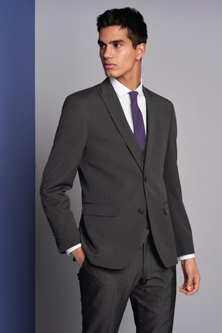 d7dd18e69 Buy Charcoal Slim Fit Two Button Suit: Jacket from the Next UK ...