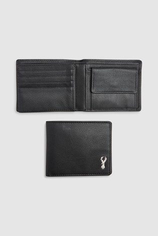 Buy Black Leather Stag Badge Extra Capacity Wallet from the Next UK ... fd568d0bc026