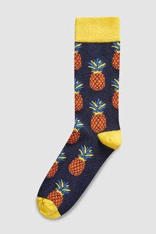 461ac22c0 Buy Navy Pineapple Socks Single Pair from Next Ireland