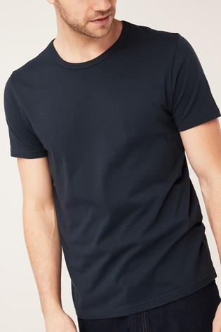 b43145ae511cb8 Buy Navy T-Shirts Pure Cotton Two Pack from Next Poland