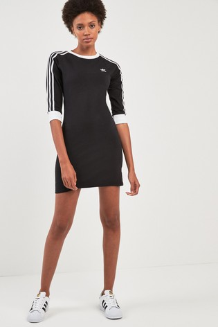 ebd9837e2414 Buy adidas Originals Black 3 Stripe Dress from the Next UK online shop