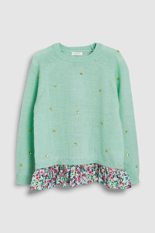 67c2961f5141 Buy Mint Mock Layer Crew (3-16yrs) from Next Kuwait