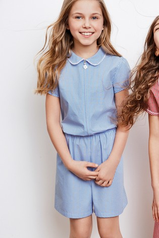 5a05d8f881 Buy Blue Gingham Playsuit (3-14yrs) from the Next UK online shop