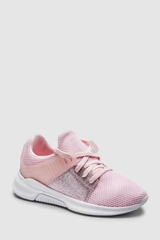 pick up c7b35 e78c6 Buy Pink Glitter Runner Trainers (Ältere) from Next Germany