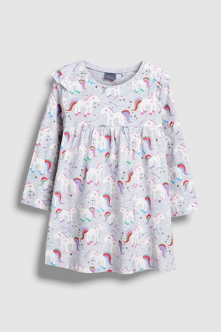 2ec049a53776 Buy Grey Unicorn Print Dress (3mths-6yrs) from Next Ireland