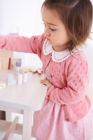 16a2913f7834 Buy Pink Shirred Collar Dress (3mths-7yrs) from the Next UK online shop