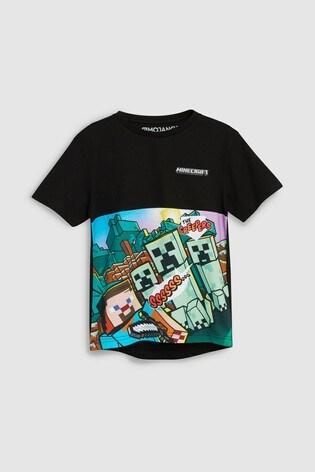 Buy Black Minecraft Creeper T Shirt 4 14yrs From Next Usa