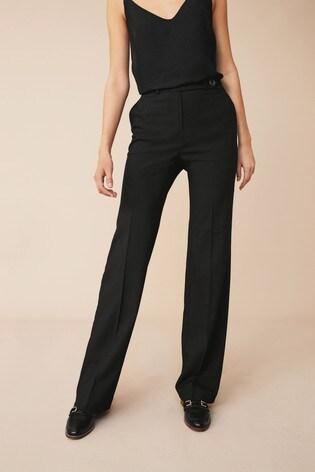 Next Black Wide Leg Trousers