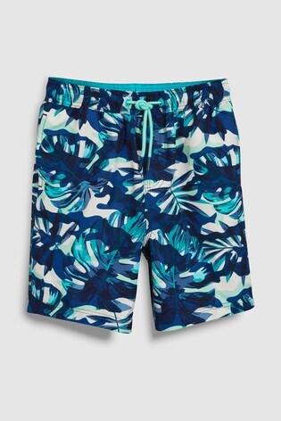 f285e3eaf9 Buy Blue Camo Leaf Print Swim Shorts (3-16yrs) from the Next UK ...