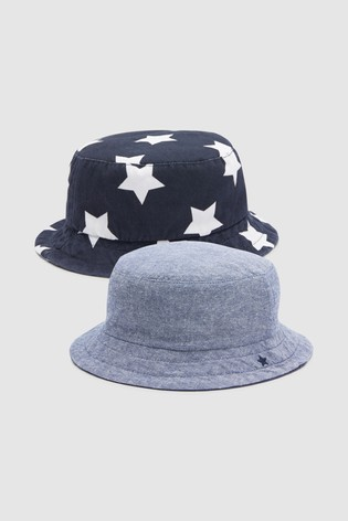 2dde143b642 Buy Navy Star Chambray Fisherman s Hats Two Pack (Younger) from Next ...