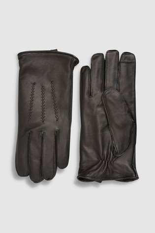 9e560e0acd4a7 Buy Black Leather Gloves from Next Germany