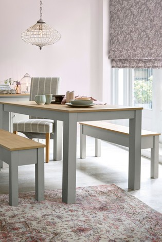 Buy Malvern Dining Table And Bench Set From The Next Uk Online Shop