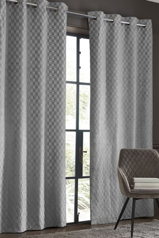 Buy Cut Velvet Geo Eyelet Curtains From The Next Uk Online