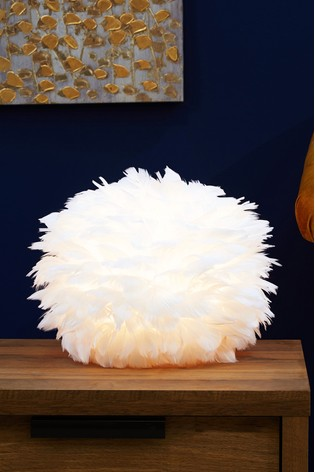 White Feather Lamp Shade