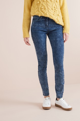 8d1f85e59c Buy Acid Wash Skinny Jeans from the Next UK online shop