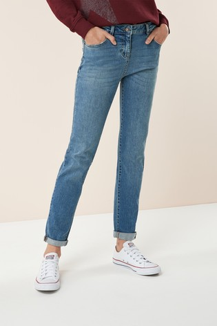 bbdd012e7d9f21 Buy Mid Blue Relaxed Skinny Jeans from the Next UK online shop