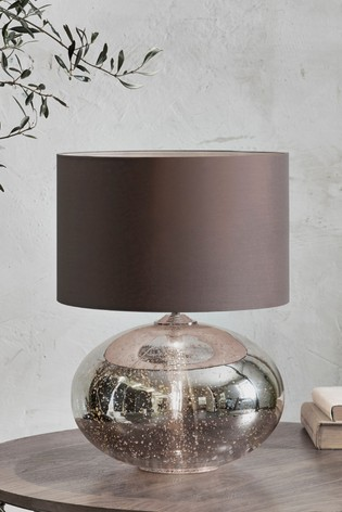 Petra Dual Light Gold Mercury Large Table Lamp