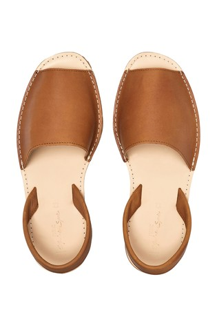 Tan Leather Beach Sandals