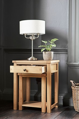 Buy Thornley Oak Nest Of 2 Tables From The Next Uk Online Shop