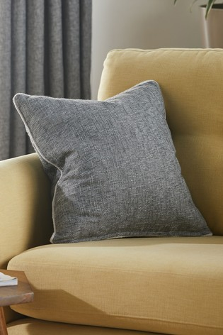"""Large Grey Cushions Cushion Covers Textured High Quality Hard Wearing 22/"""" 24/"""""""