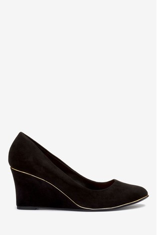 Buy Almond Toe Trim Detail Wedges from
