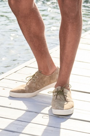 Buy Stone Casual Suede Derby Shoes from