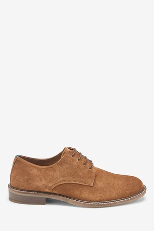 Buy Tan Suede Derby Shoes from the Next