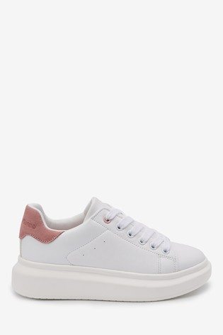 Buy White Chunky Sole Trainers (Older