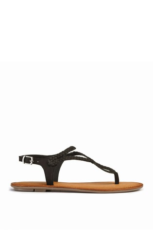 d3cb26fd1b493b Buy Black Plaited Toe Thong Sandals from Next Slovakia